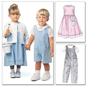 McCall's Patterns M6304 Toddlers' Rompers In 2 Lengths, Dress, Jacket and Shirt, Size CB