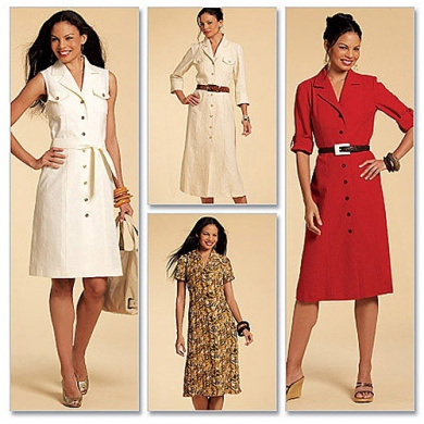 McCall's Pattern Misses' Shirtdresses in 3 Lengths and Sash, E5 (14, 16, 18, 20, 22)