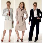 Butterick Patterns B5760 Misse Jacket, Cardigan, Dress, Belt, Skirt and Pants, Size A5