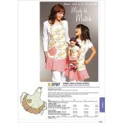 Kwik Sew Pattern Misses', Girls' and Dolls' Aprons, Misses: (S, M, L), Girls