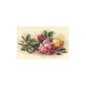 "Dimensions ""Rose Cuttings"" Counted Cross Stitch Kit, 36cm x 23cm"