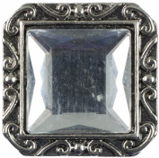 Cousin Snap In Style Acrylic Accent, Square Faceted