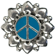Cousin Snap In Style Metal Accent, Teal Peace