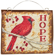 "Dimensions ""Hope"" Ornament Counted Cross Stitch Kit, 11cm x 9.5cm"