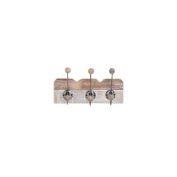 Woodland Import 92600 Simple Wood Wall Hook Dual toned finish in beige and brown