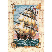 "Dimensions Gold Collection Petite ""Voyage At Sea"" Counted Cross Stitch Kit, 13cm x 18cm"