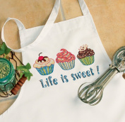 """Dimensions """"Life Is Sweet"""" Apron Stamped Cross Stitch"""