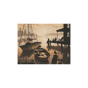 Peaceful Silhouette Counted Cross Stitch Kit