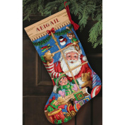 "Dimensions Gold Collection ""Santa's Toys Stocking"" Counted Cross Stitch Kit, 41cm Long"