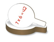 Flipside 10032 Dry Erase Answer Paddle - Case of 24