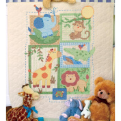 "Dimensions Baby Hugs ""Savannah"" Quilt Stamped Cross Stitch Kit, 90cm x 110cm"