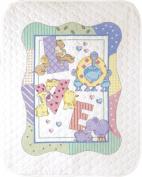 Baby Hugs Zoo Alphabet Quilt Stamped Cross Stitch Kit-90cm X110cm
