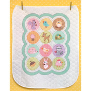 "Dimensions Baby Hugs ""Happi Woodland"" Quilt Stamped Cross Stitch Kit, 90cm x 110cm"