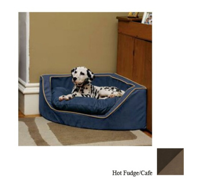 ODonnell Industries 25093 Large Luxury Corner Pet Bed - Hot Fudge-Cafe