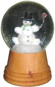 Alexander Taron 2406 Snowman Wood Snow Globe