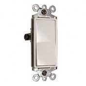Leviton Mfg S12-05603-2WS White Residential Grade Decora 3-Way AC Quiet Switch R