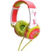 IDANCE KM100 Kiss Me Lightweight Headphones - Red and Green