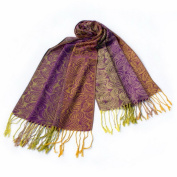 Blancho Bedding Pa-a54-4 Purple Special Flowers Pattern Elegant Extra Soft Woven Pashmina/Shawl/Scarf