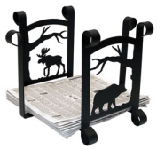 Village Wrought Iron RB-100-101 Moose and Bear Recycle Bin