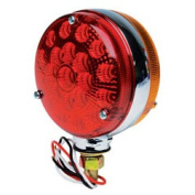 Roadpro RP3802-40LC 4 Red - Amb Dbl Side Led with Chrm Reflector