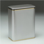Redmon 228SVGD Bath Jewelry Diamond Pattern Vinyl Hamper - Silver-Gold
