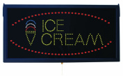 Aarco Products Inc. ICE13L High Visibility LED ICE CREAM Sign 11 .190.5cm .Hx23 .12.7cm .W