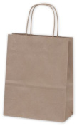 Bags & Bows by Deluxe 15-RK Cub Recycled Kraft Paper Shoppers - Case of 250