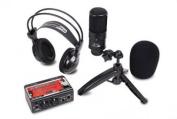 FINE ELITE INTERNATIONAL LTD STUDIOPACK202 Studio Recording Kit with USB Audio Interface Condenser Mic and Studio Headphones