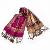 Blancho Bedding Pa-612-6 Big Flower Pattern Exquisitely Soft Woven Pashmina/Shawl/Scarves