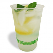 Jaya 100% Compostable PLA Clear Cold Cup, 1000 Count Case