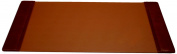 Dacasso P3001 Leather 34x20 Desk Pad with Side Rails