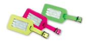 Lewis N Clark ID20YELHT Rectangular Neon Luggage Tag - Yellow