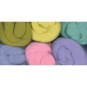 Paint Box Wools .980ml 6/Pkg-Misty Morning -Pk/Blu/Grn/Seafm/Yel/Lav