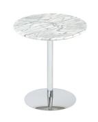 Eurostyle 80945CHR TAMMY SIDE TABLE - Marble-Chrome