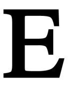 Village Wrought Iron LET-E-M Letter E Medium