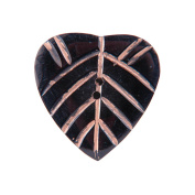 Handmade Horn Button, 5.1cm Heart Pink Carvings