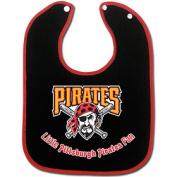 Caseys Distributing 9960601176 Pittsburgh Pirates Two-Toned Snap Baby Bib