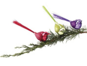 Sugared Fruit Green Glitter Glass Bird Clip-On Christmas Decoration 18cm