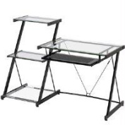 Z Line Designs ZL2021DBU Nero Desk and Bookcase