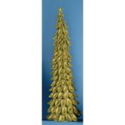 0.9m Lighted Looped Kiwi Green Glitter Christmas Tree Decoration