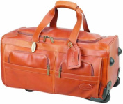 Claire Chase 233E-saddle Rolling Duffel - Saddle