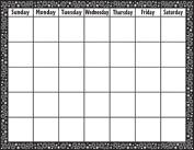 Teacher Created Resources 7718 Black / White Crazy Circles Calendar Chart