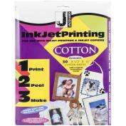 Ink Jet Fabric Sheets 22cm x 28cm 30/Pkg-100% Cotton Percale