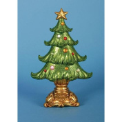 Pack of 2 Ornate Glittered Table Top Christmas Tree Decorations 30cm