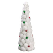 60cm Whimsical Snowball Glitter Table Top Christmas Topiary Tree - Unlit