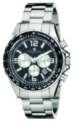 Charles-Hubert Paris 3891-W Mens Stainless Steel Chronograph Watch