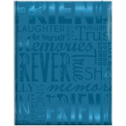 MBI 823100-360 Embossed Gloss Expressions Photo Album 100 Pkt 4-3-10cm . x 6-1-5.1cm .-Friends - Teal
