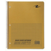 Roaring Spring Paper Products ROA11209 Quad Notebook- Wirebound- 5x5 Quad- 3HP- 28cm .x8-.130cm .- 80 Sh- Brown