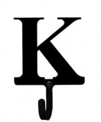 Village Wrought Iron WH-K-S Letter K Wall Hook Small