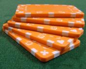Brybelly Holdings PCB-2106 5 Orange Rectangular Poker Chips